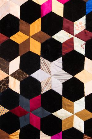 colorful quilt pattern Banco de Imagens
