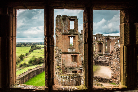 Medieval Castle ruins, Kenilworth in Warwickshire, United Kingdom