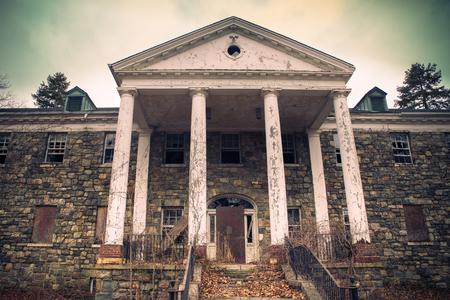 Abandoned hospital building