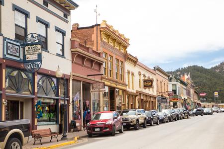 IDAHO SPRINGS, COLORADO - APRIL 29, 2018:  Street scene from historic western Idaho Springs,  Colorado mining town. Stock Photo - 118529512