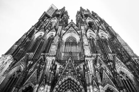 Historic Cologne Germany Cathedral in black and white Stock fotó