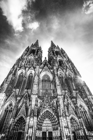 Historic Cologne Germany Cathedral in black and white Sajtókép