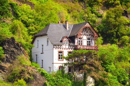 Half-timbered Home in Sankt Goar Germany displaying typical German architecture Stock fotó - 137377330