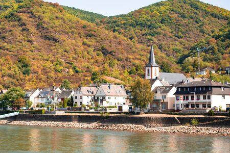Kestert Germany seen from along the Rhine River Stock fotó - 137377332
