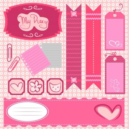 scrapbook paper: Girl scrapbook set