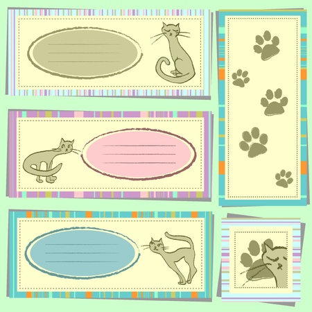 Kitty scrapbook elements Vector