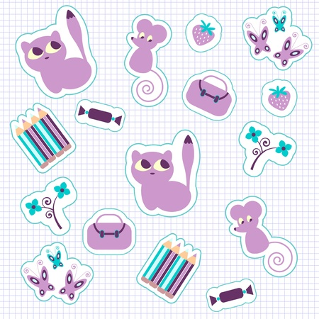 Stickers set Illustration