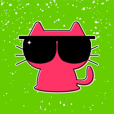 funny kitten in sunglasses