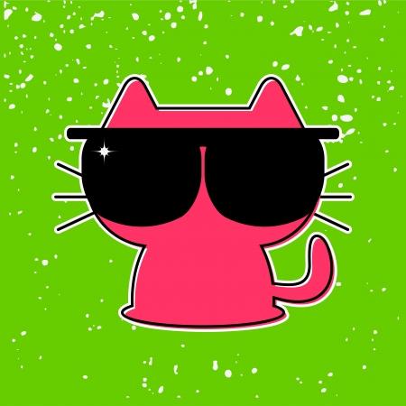 funny kitten in sunglasses