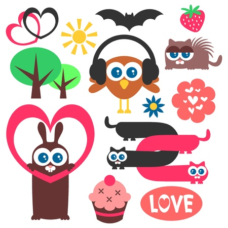 Cute childish elements for design Stock Vector - 15647932