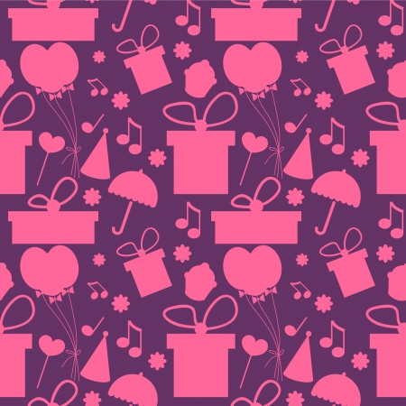 Seamless background for birthday Vector