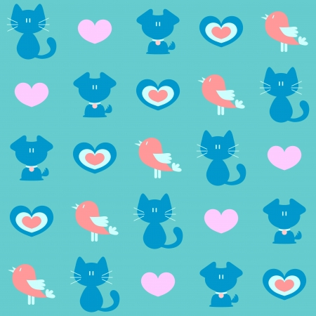childlike: Cute childlike seamless pattern