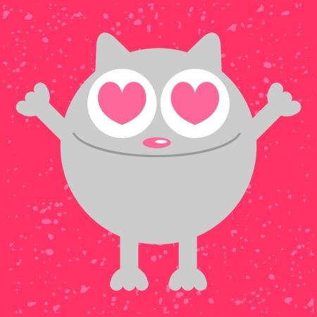 Funny cat in love