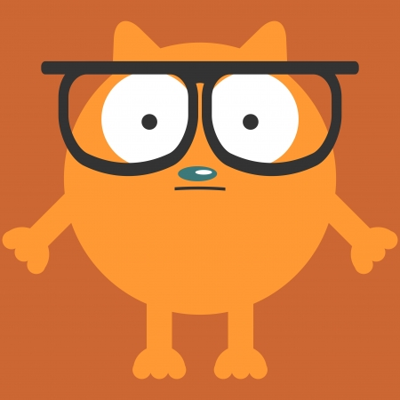 Funny cat in glasses