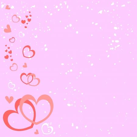wedding backdrop: Rosa sfondo romantico con cuori