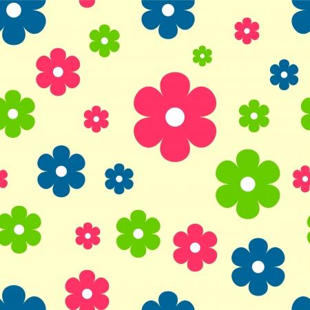 babyish: Colorful flowers seamless pattern Illustration