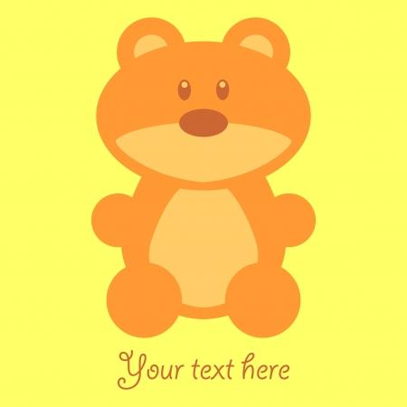 Cute childish card with teddy bear Vector
