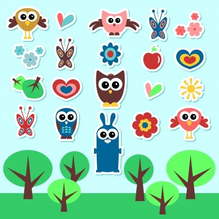 babyish: Cute babyish stickers set