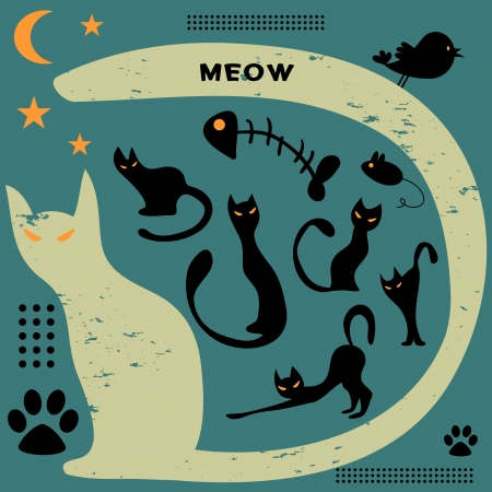 Cat elements Vector