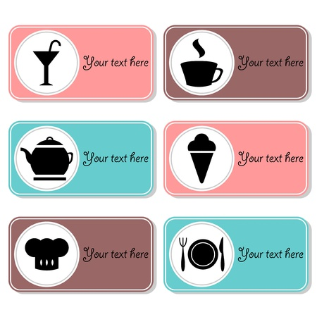 Set of beautiful banners for cafe or restaurant Stock Vector - 15672837