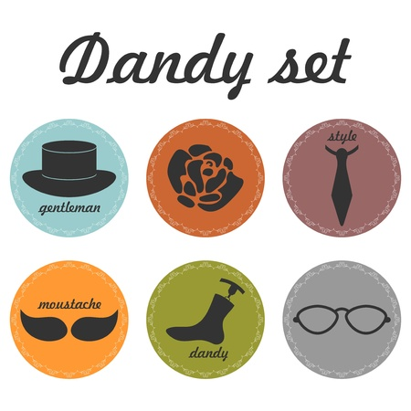 Set of dandy icons