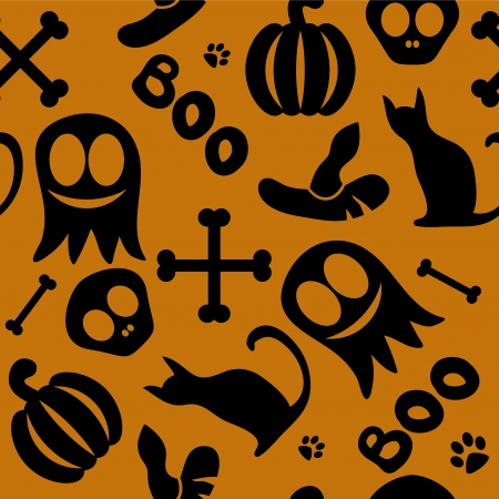 Funny seamless pattern for halloween Vector