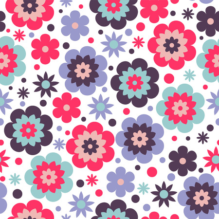 babyish: Beautiful seamless pattern with flowers Illustration