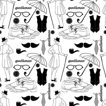dandy: Dandy style beautiful vintage seamless pattern