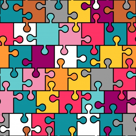 Colorful puzzle seamless pattern