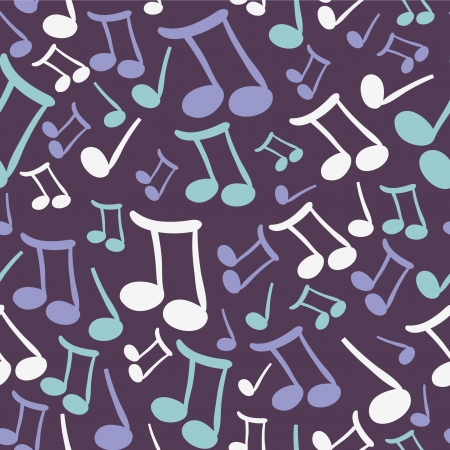 Musical seamless pattern with notes Vector