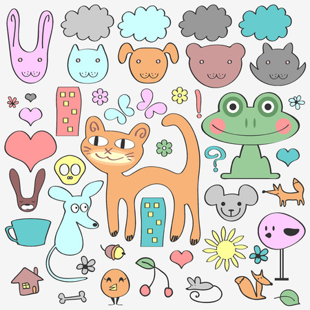babyish: Various elements animals and nature  Cute babyish style