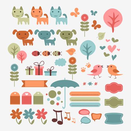babyish: Cute babyish scrapbook elements