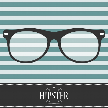 Hipster card design with glasses Vector
