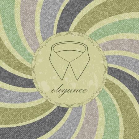 Vintage dandy card for gentlemen