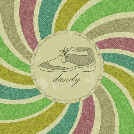 dandy: Vintage dandy card for gentlemen