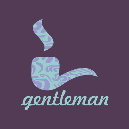Gentleman  card with pipe male fashion Vector