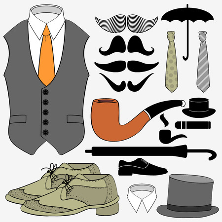 Set of gentleman Vector