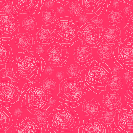 babyish: Seamless pattern with beautiful roses