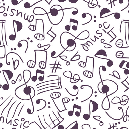 babyish: Seamless pattern with various music signs