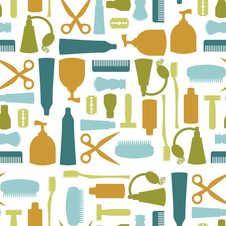 Seamless pattern with various toiletries Stock Vector - 26017091