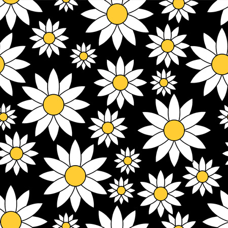 babyish: Cute seamless pattern with chamomiles