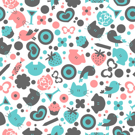 Sweet seamless pattern design Vector