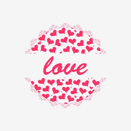 babyish: Cute romantic card design Illustration