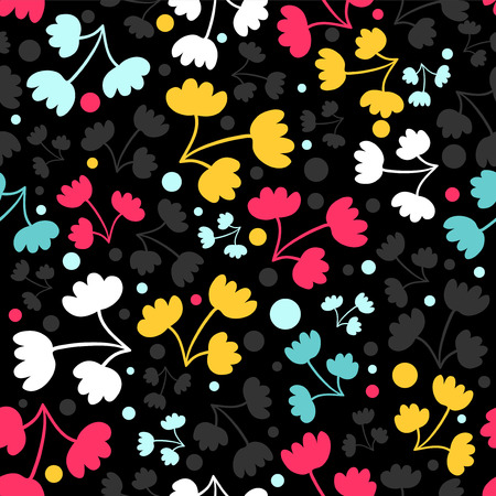 babyish: Seamless pattern with pretty flowers