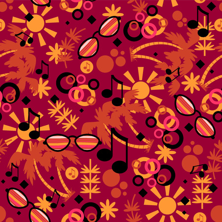 babyish: Colorful summer seamless pattern design Illustration