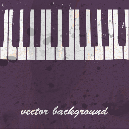 Musical background design with piano keyboard Vector