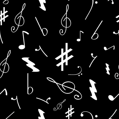 Seamless pattern with various music symbols Vector