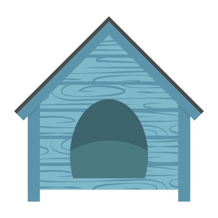 casa de perro: Perro de la casa aislada en blanco