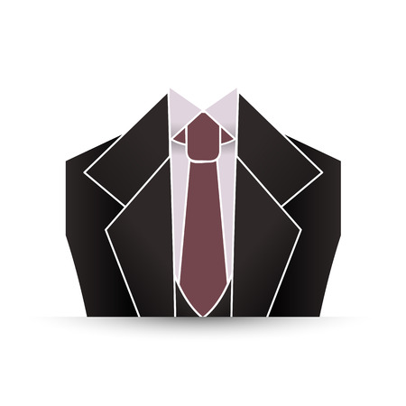 formal: Male formal suit with tie Illustration