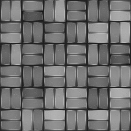paving stone: Grey pavement seamless pattern  Paving stone texture